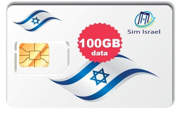 Reaktywacja karty Sim z pakietem 100GB mobilnego internetu 4G w Izraelu - 30 dni ważności pakietu